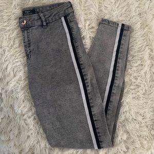 bershka striped skinny jean